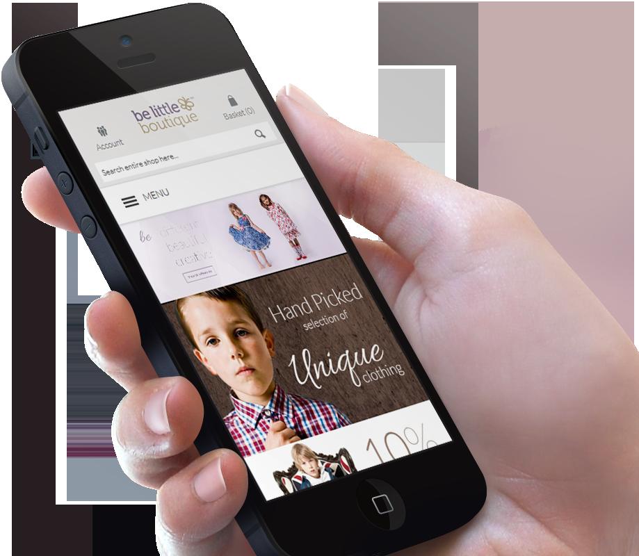 Be Little Boutique mobile web design