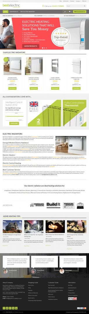 Ecommerce Website Design Leeds, Website Design Portfolio Example