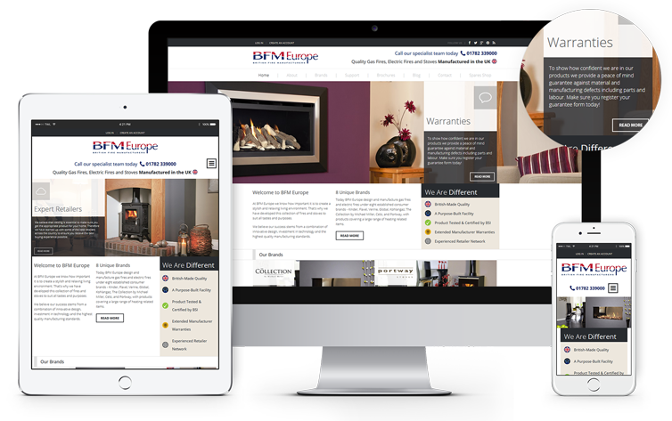 Responsive Website Design London & Leeds, Website Design Portfolio Example