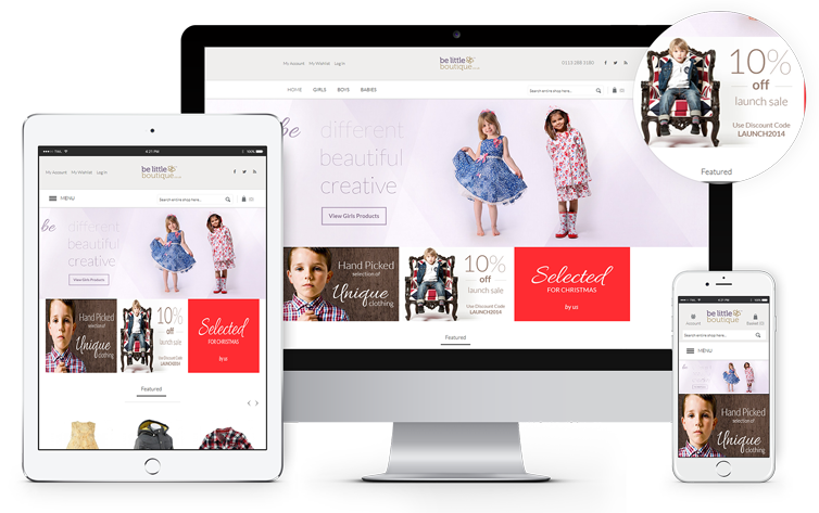 Ecommerce Website Design London & Leeds, Responsive Website Design London & Leeds, Website Design Portfolio Example