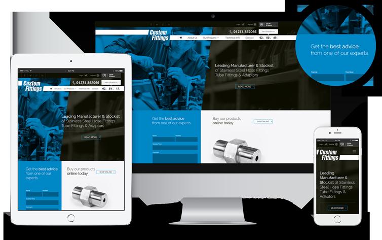 Eccomerce Website Design London & Leeds, Responsive Website Design London & Leeds, Website Design Portfolio Example