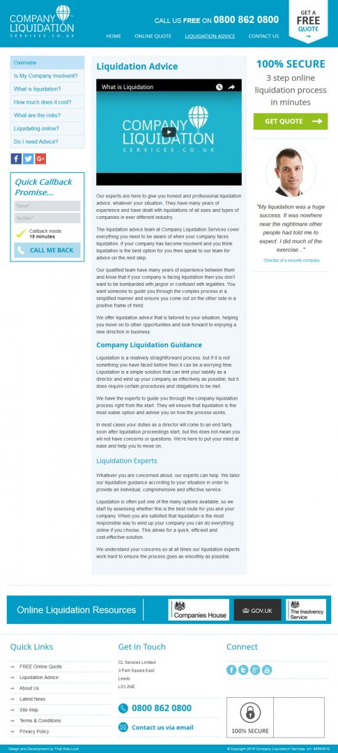 Website Design Leeds, Website Design Portfolio Example