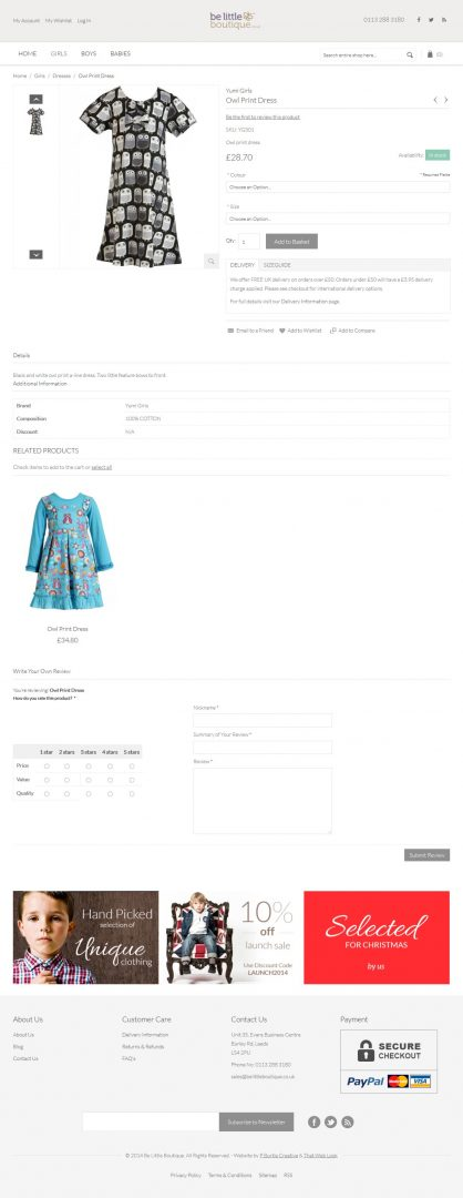 Ecommerce Website Design London & Leeds, Website Design Portfolio Example
