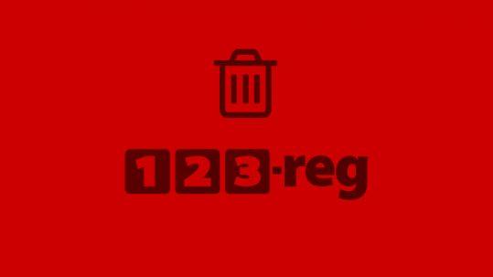 123 reg delete websites
