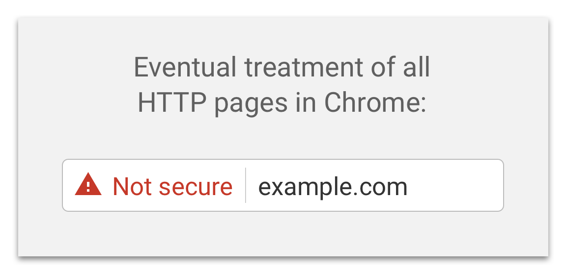 HTTPS note secure in Chrome