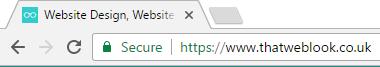 Secure green padlock HTTPS